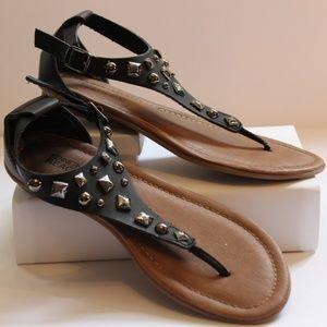 Girl's Kenneth Cole Reaction Black Sandal Size 3